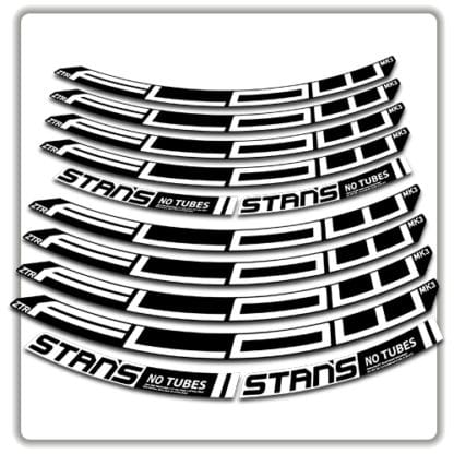 stans no tubes flow ztr mk3 rim stickers white
