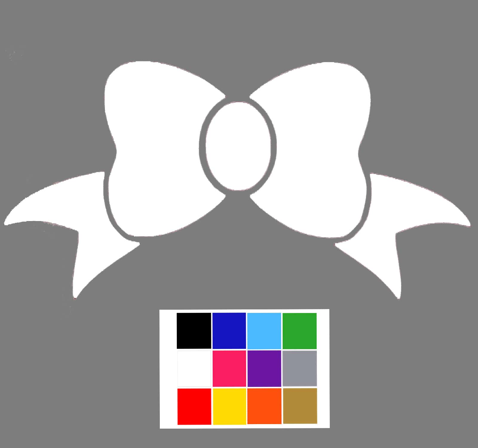 Bow wall stickers white bow wall sticker amipublicfo Choice Image