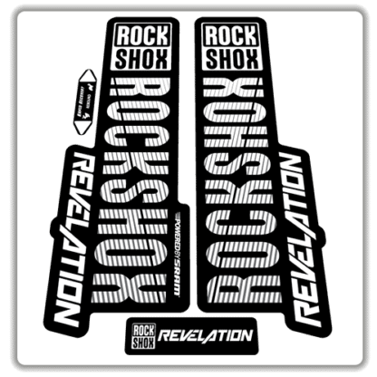 white rockshox revelation fork stickers 2018