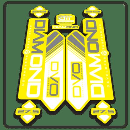 yellow dvo diamond fork stickers