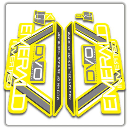 yellow dvo emerald fork stickers