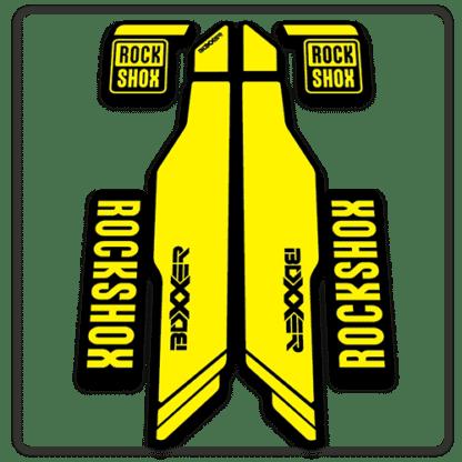 yellow rockshox boxxer 2014 2015 fork stickers